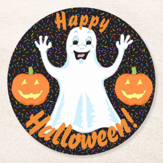 Happy Ghost Halloween Coasters