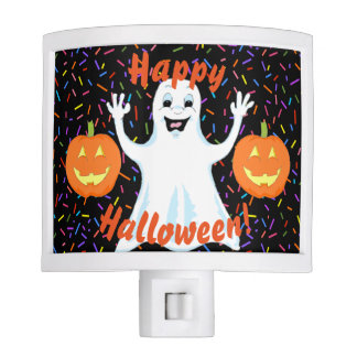 Happy Ghost Halloween Night Light