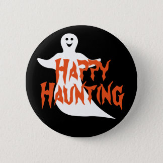 Happy Ghost Happy Haunting 2 Inch Round Button
