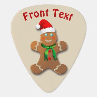 Happy Gingerbread Cookies Guitar Pick