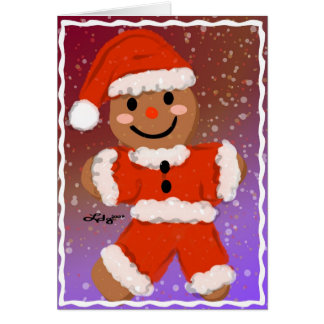 Happy Gingerbread Santa Card