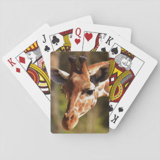 Happy Giraffe Playing Cards