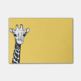Happy Giraffe Post It Notes