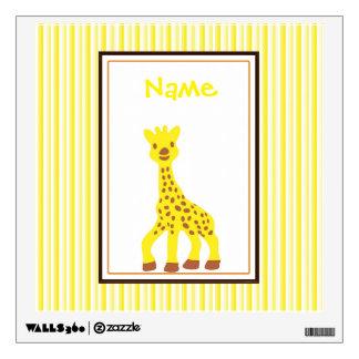 Happy Giraffe Wall Decal