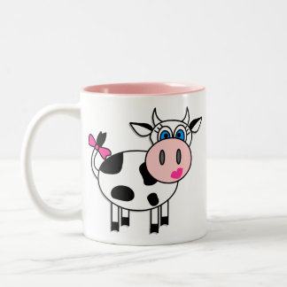 Happy Girl Cow Coffee Mug