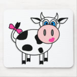 Happy Girl Cow Mouse Pads