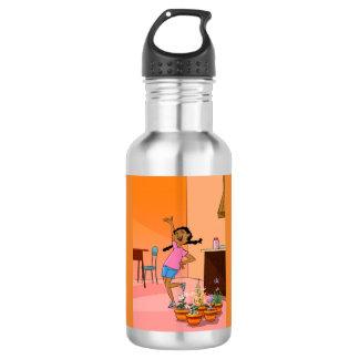 Happy Girl design Water Bottle