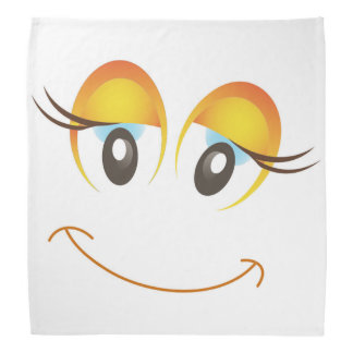 HAPPY GIRL SMILEY FACE BANDANA