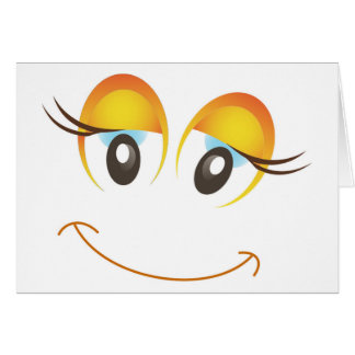HAPPY GIRL SMILEY FACE CARD