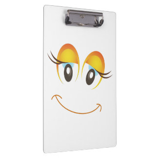 HAPPY GIRL SMILEY FACE CLIPBOARD