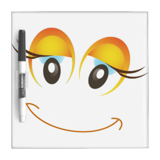 HAPPY GIRL SMILEY FACE DRY ERASE BOARD