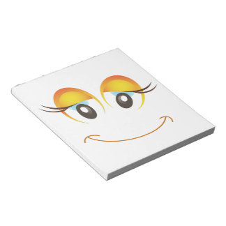 HAPPY GIRL SMILEY FACE NOTEPAD