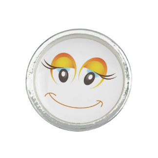 HAPPY GIRL SMILEY FACE PHOTO RINGS