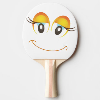 HAPPY GIRL SMILEY FACE Ping-Pong PADDLE