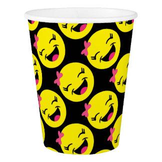 Happy Girly Emoji Paper Cup