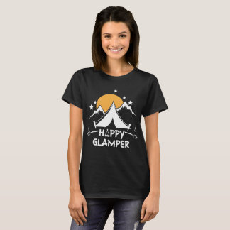 Happy Glamper Cute Glamping Camp T-Shirt
