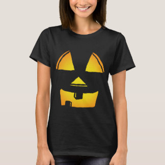 Happy Glowing Jackolantern Face T-Shirt