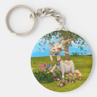 Happy Goat Keychain