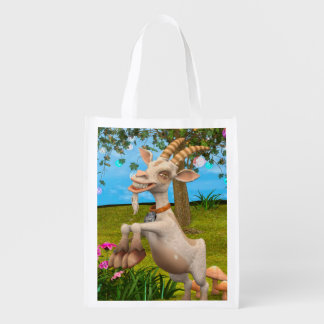 Happy Goat Reusable Grocery Bags