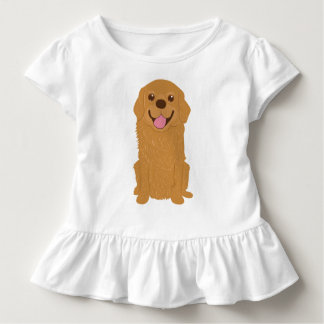 Happy Golden Retriever Illustration Toddler T-shirt