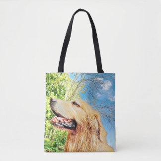 Happy Golden Tote Bag