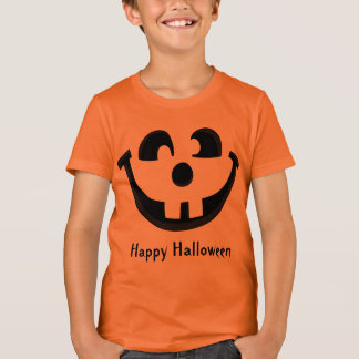 Happy Goofy Jack O Lantern Halloween Pumpkin Face T-Shirt