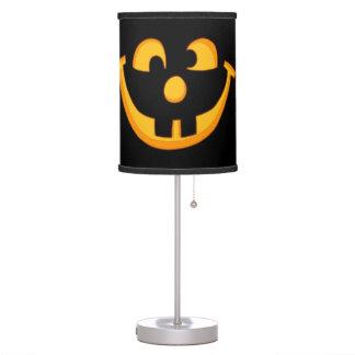 Happy Goofy Jack O Lantern Halloween Pumpkin Face Table Lamp