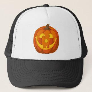 Happy Goofy Jack O Lantern Halloween Pumpkin Face Trucker Hat
