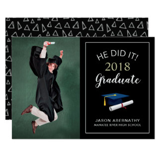 Happy Grad Trendy Photo Party Announcement