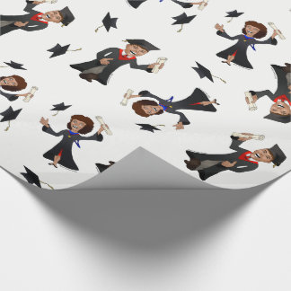 Happy Graduates Cute Cartoons Wrapping Paper
