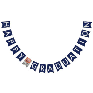 Happy Graduation Basketball Blue Bunting Banner
