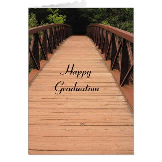 Happy Graduation:  Bridge Design Greeting Card