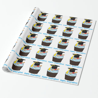 Happy Graduation with Cupcake and Diploma Wrapping Paper