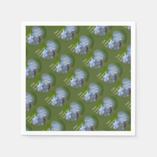 Happy Grandparents Day - Forgetmenot Paper Napkins