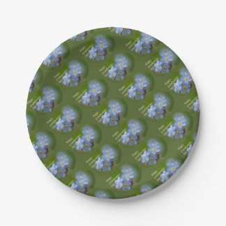 Happy Grandparents Day - Forgetmenot Paper Plate