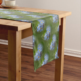 Happy Grandparents Day - Forgetmenot Short Table Runner