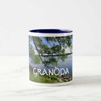 "Happy Grandparents Day-""Grandpa"" Two-Tone Coffee Mug"