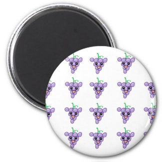 Happy Grapes 2 Inch Round Magnet