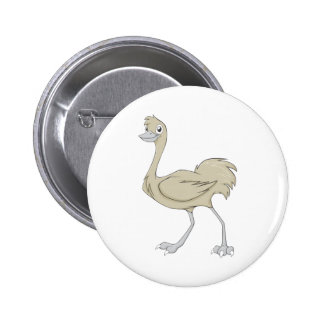 Happy Greater Rhea Cartoon 2 Inch Round Button