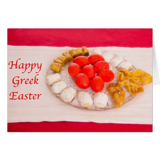 Happy Greek Easter With Greek Cookies Card