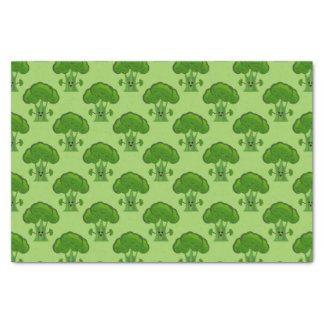 Happy Green Broccoli Tissue Paper