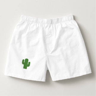 Happy green cactus in pink summer boxers