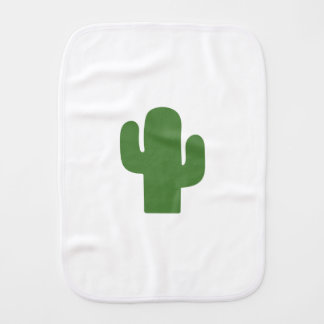 Happy green cactus in pink summer burp cloth