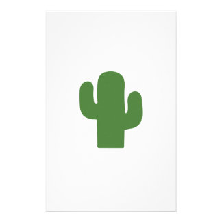 Happy green cactus in pink summer stationery