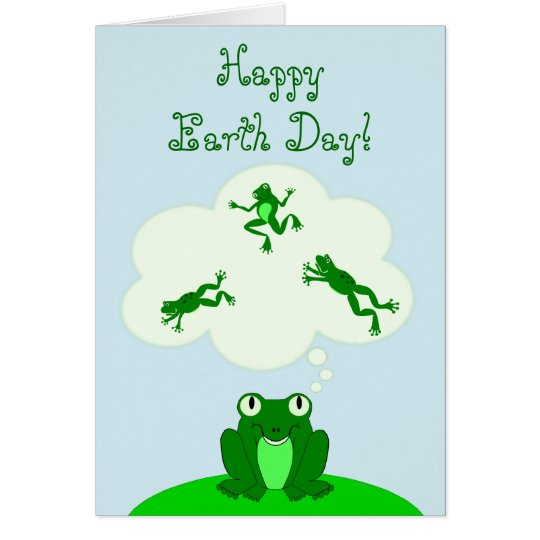 Happy Green Earth Day with Leap-Dreaming Frog! Card