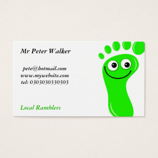 Happy Green Feet Business Card