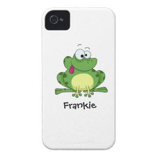 Happy Green Frog iPhone 4 Case-Mate Cases