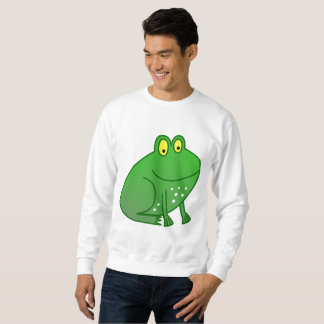 Happy Green Frog Long Sleeve Shirt Sweater