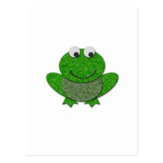 Happy Green Frog Postcard