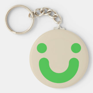 Happy green keychain